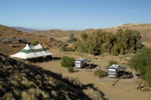 Overview - Walkabout (group house), Pavilion Tent & Airstreams (Photo by Jerzy Aust)